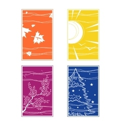 The seasons in different colors vector