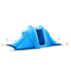 touristic camping tent vector image