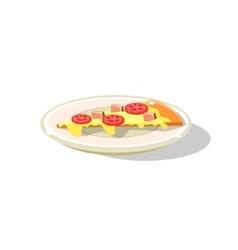 Traditional Italian Pizza Slice vector image