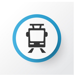 Tram icon symbol premium quality isolated vector
