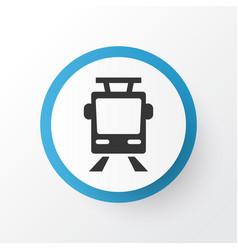 Tram icon symbol premium quality isolated vector