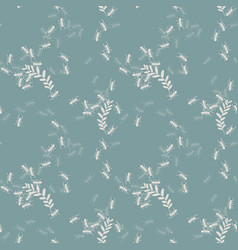 vintage natural seamless pattern vector image