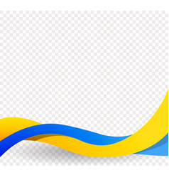 yellow and blue ribbons wavy ukrainian flag vector image