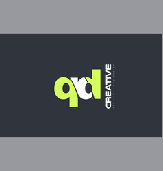 green letter qd q d combination logo icon company vector image