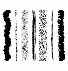 grunge ink splashes vector image