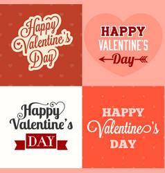 typographic happy valentines day vector image