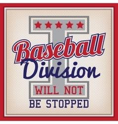 Baseball Division Badge vector image vector image