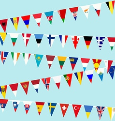 Bunting European Union flags vector image vector image
