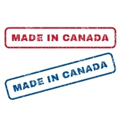 Made in canada rubber stamps vector