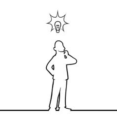 Man with lightbulb vector image vector image