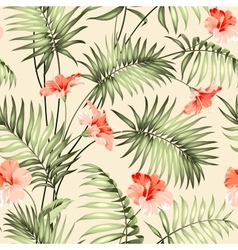 Seamless pattern of a palm vector image vector image