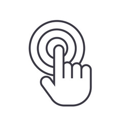 touch by fingertouchscreen line icon sign vector image
