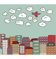 urban doodle vector image vector image