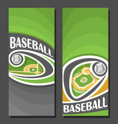 vertical banners for baseball vector image vector image