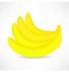 banana icon isolated black on the white background vector image vector image