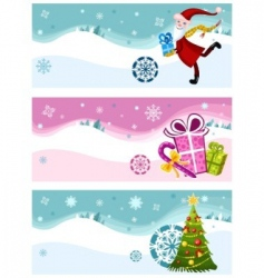 Christmas card set vector image