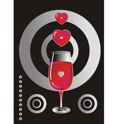 Heart glass background vector