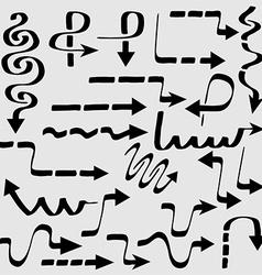 modern arrows set vector image