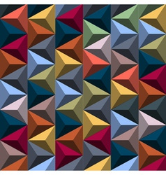 Multicolored background from pyramids vector image vector image