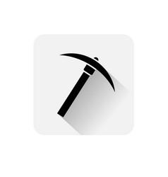 pickaxe icon bitcoin mining web money digital vector image