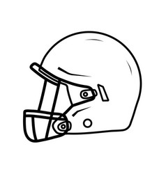 american football helmet side view vector image