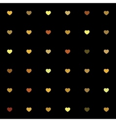 Black and gold geometric seamless patterns set vector image