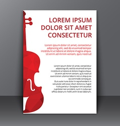 Flyer with a polygonal bass vector image