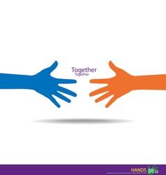 Handshake Teamwork Hands Logo vector image vector image