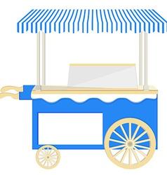 Ice cream blue cart vector image vector image