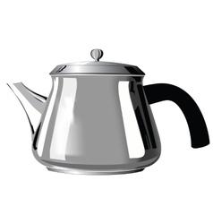 Metal teapot with black handle vector image