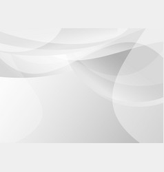 abstract gray gradient curve overlap on background vector image