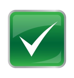 Agree icon on green button vector