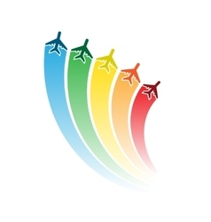 Airplanes with rainbow vector