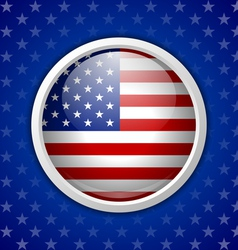 American circular badge vector