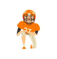 American football player wearing uniform vector