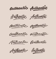authentic vintage hand lettering typography vector image