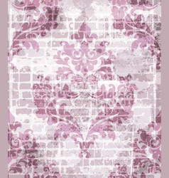 baroque pattern vintage background vector image