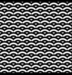 black and white retro style pattern seamless vector image