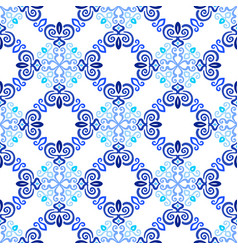 Blue background flourish weave pattern vector