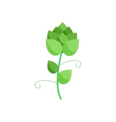 Branch of hops icon in cartoon style vector image