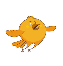 character cartoon chicken flying vector image