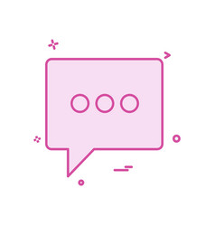chat icon design vector image