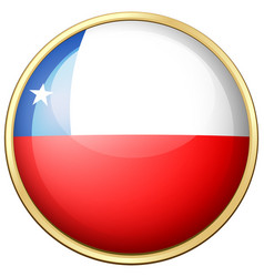 Chile flag on round frame vector