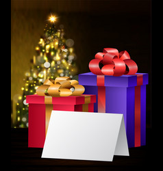 christmas greeting card mock up vector image