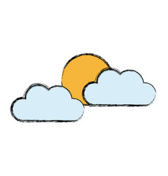 Cloud sun weather climate day sky vector