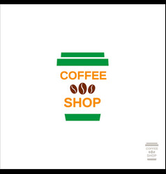 coffee logo for a coffee shop cup with coffee vector image