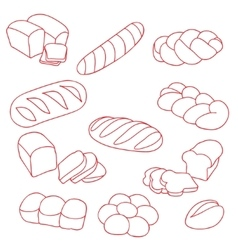 Collection breads vector