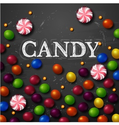 Color candy background chocolate candies vector image