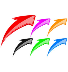 colored up arrows vector image