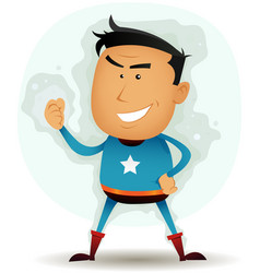 Comic superhero character vector